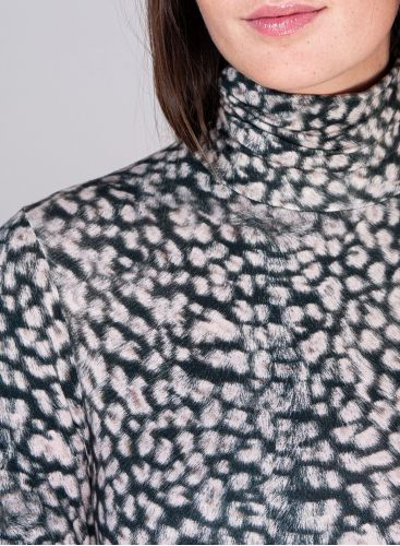 Turtleneck animal print Dress
