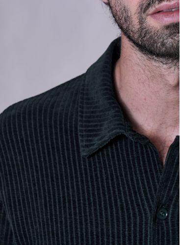 Ribbed velvet Overshirt