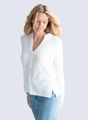 Buttonless Tunisian T-shirt