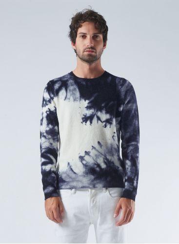 Round neck tie & dye Sweater