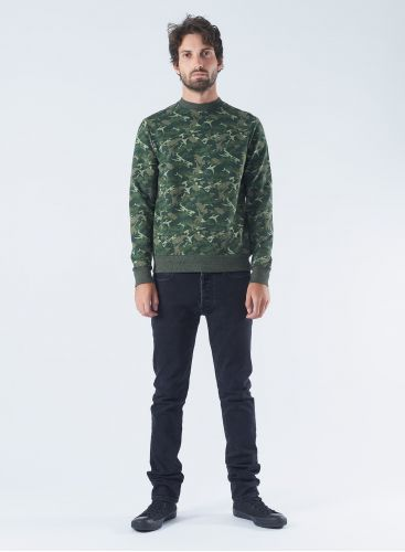 Round neck Camo Sweater
