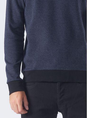 Round neck Micro houndstooth Sweater