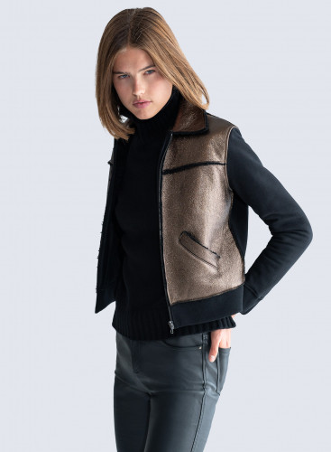 Shimmering sheepskin Jacket