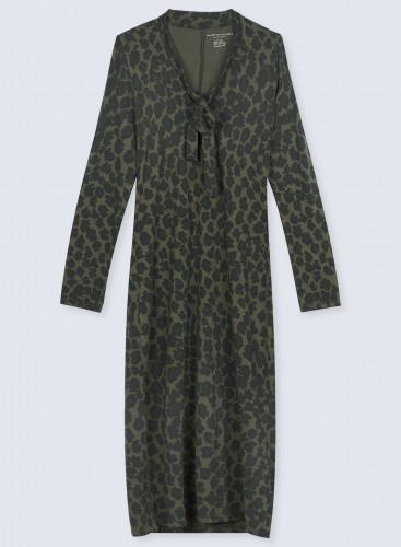 V-neck leopard print Dress