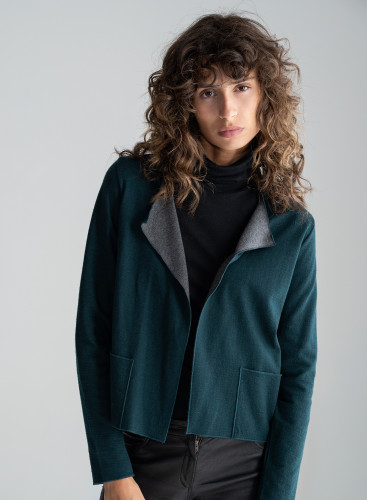 Round neck double sided Jacket
