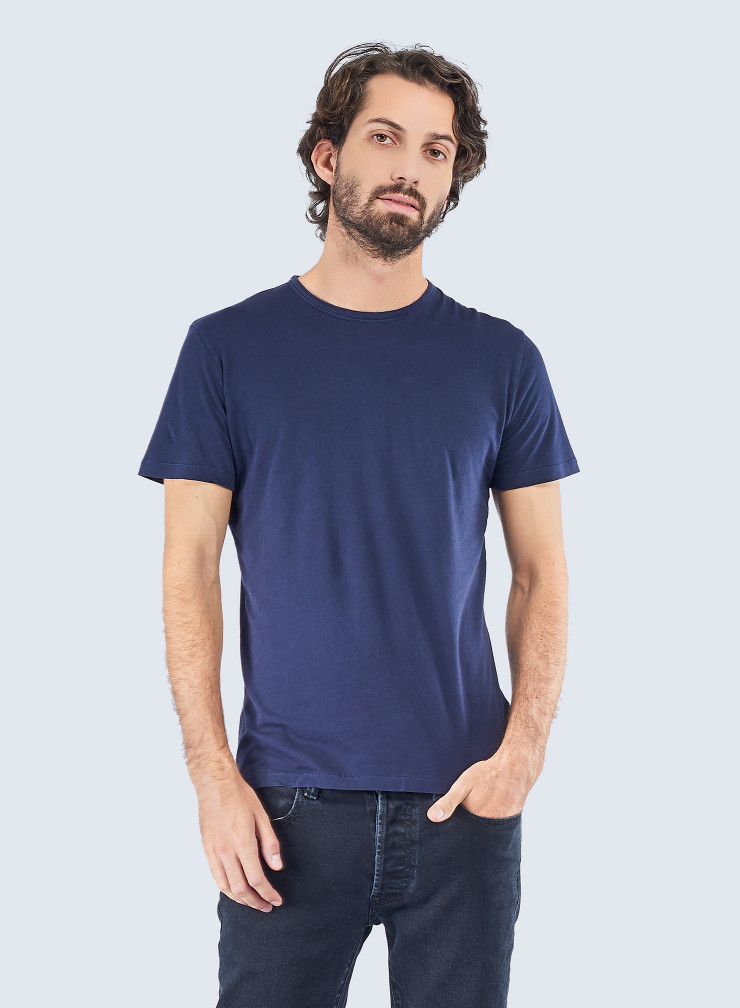 Round neck hand dyed T-shirt
