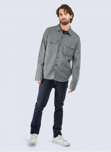 Micro houndstooth Overshirt