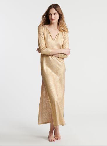 Shimmering djellaba long dress