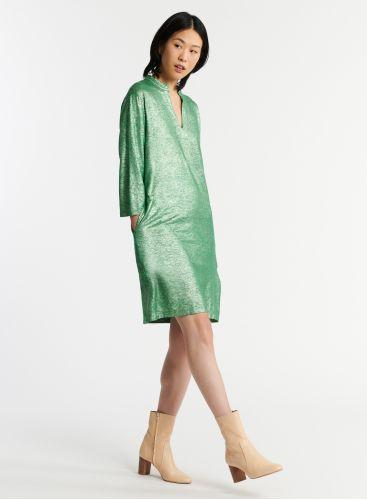 Shimmering Tunisian collar dress