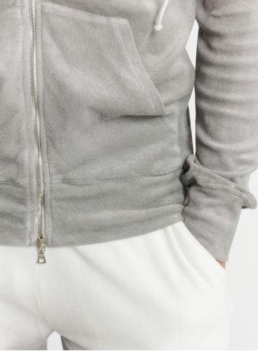 Man - Terry-cloth dip dye zip-up hoodie
