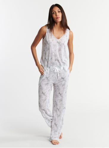 Tie & dye print jumpsuit