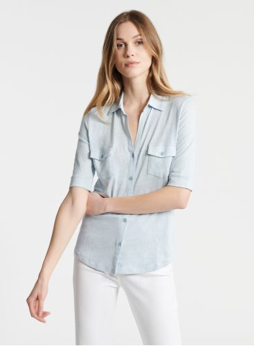 Lydia V-neck 2 pockets shirt