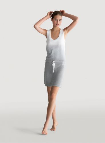Terry-cloth dip dye tank dress