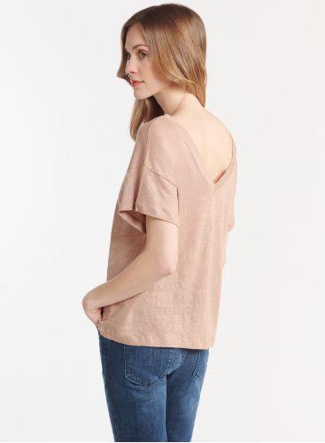 Front & back V-neck T-shirt