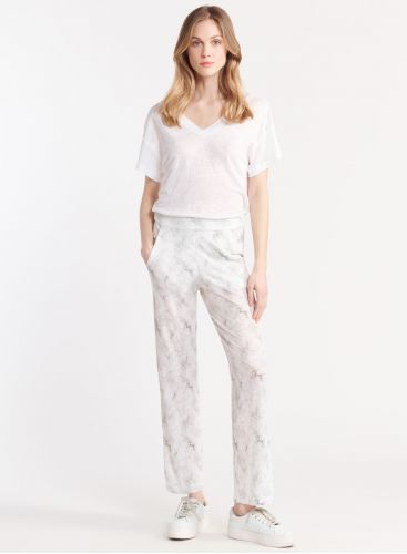 Tie & dye print pants