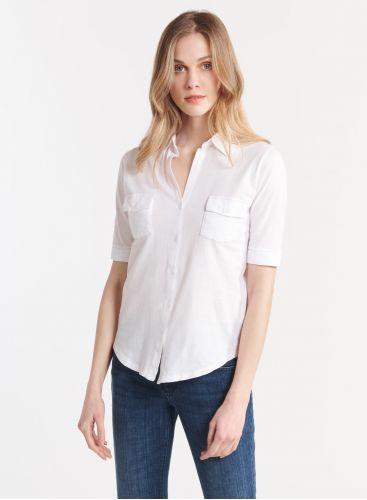 Silk Touch elbow sleeve shirt