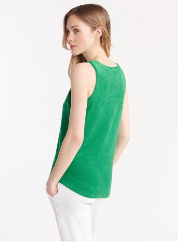 Terry-cloth tank top