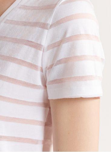 Striped V-neck T-shirt