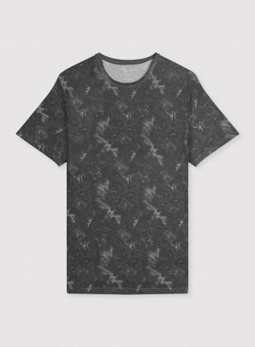 Man - Round neck tie-dye T-shirt