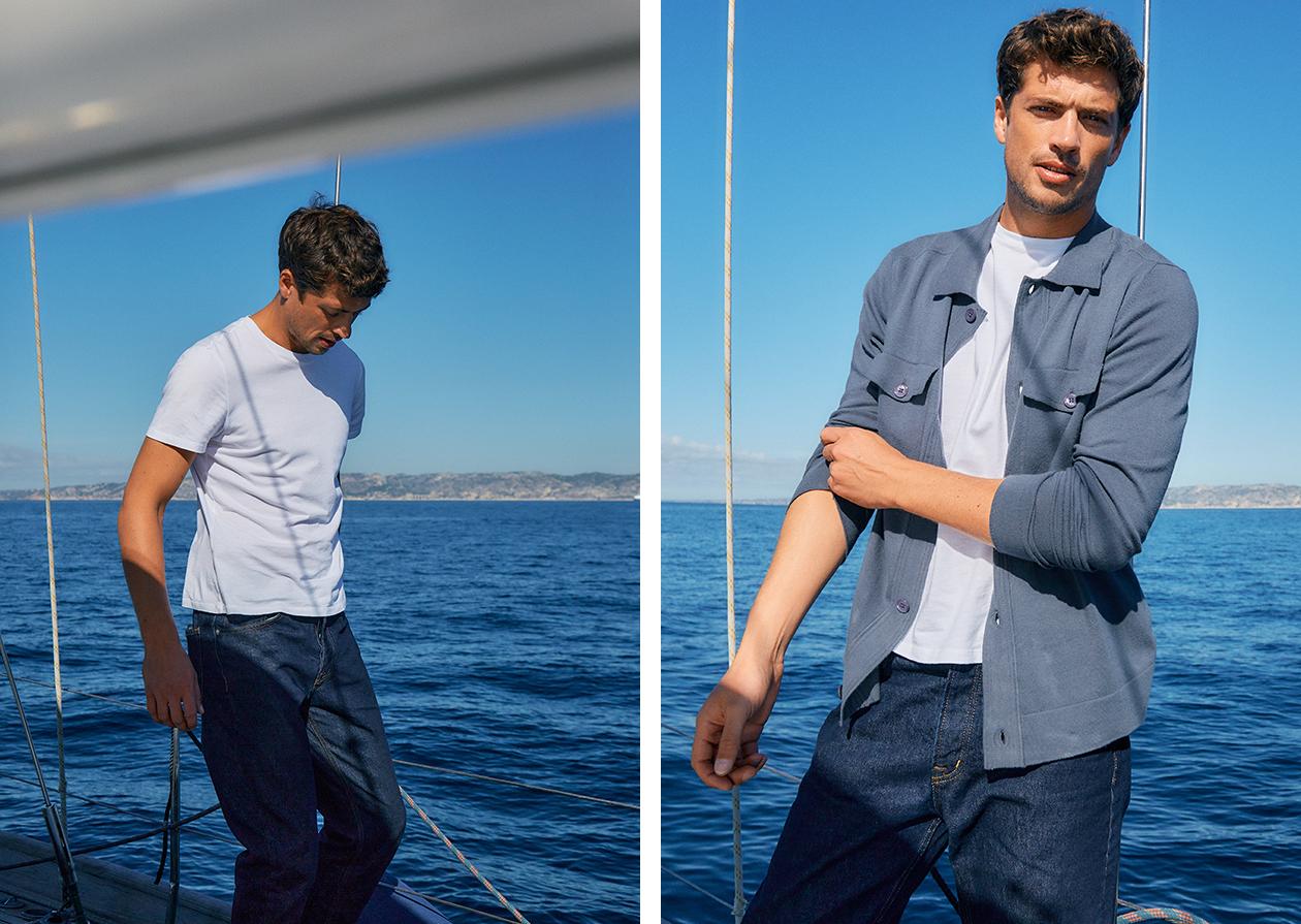 Look S21 - TERRY CLOTH DIP DYE JACKET